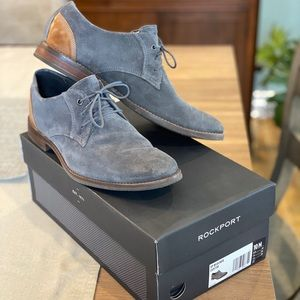 Rockport Gray Suede Blucher Shoes